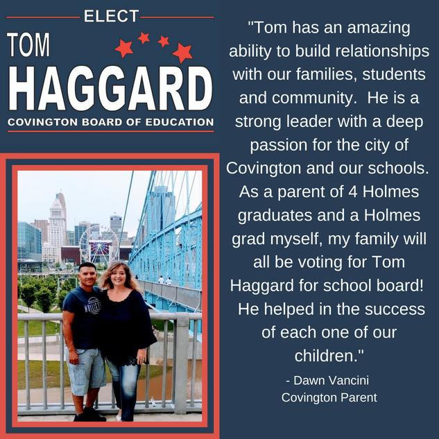 Haggard BOE Campaign Endorsements - D. V