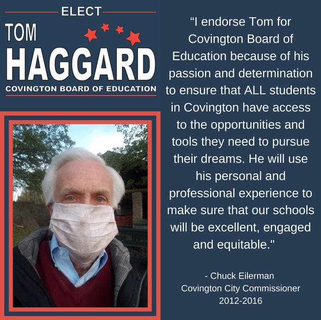 Haggard BOE Campaign Endorsements - C. E