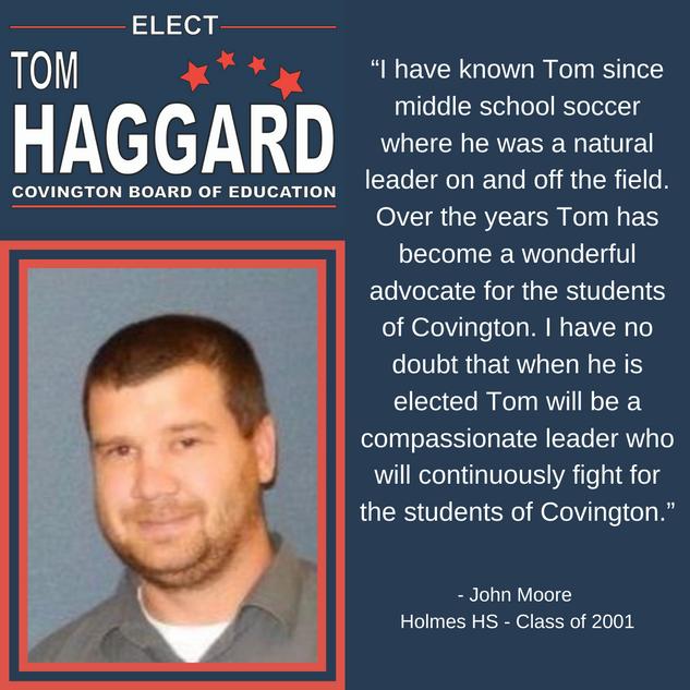 Haggard BOE Campaign Endorsements - J. M