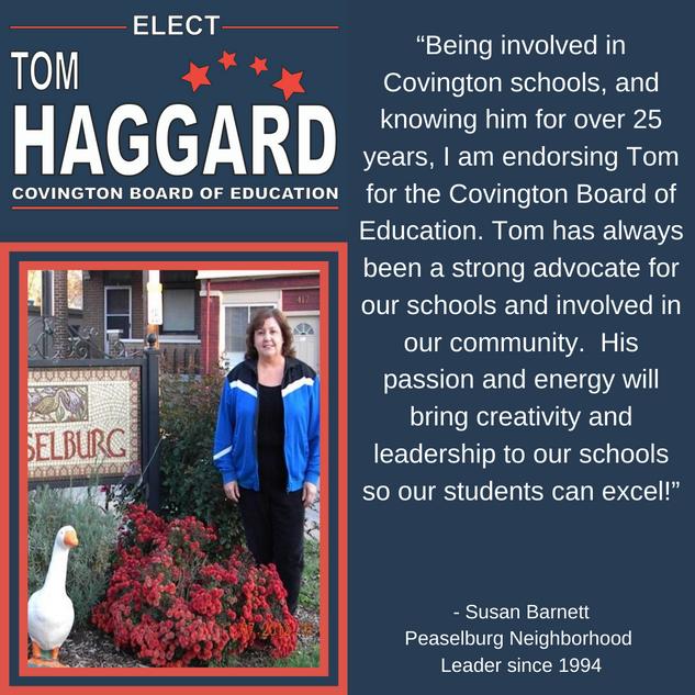 Haggard BOE Campaign Endorsements - S. B