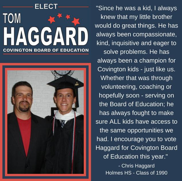 Haggard BOE Campaign Endorsements - C. H