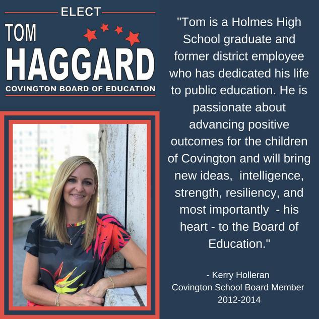 Haggard BOE Campaign Endorsements - K. H