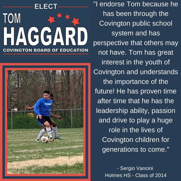 Haggard BOE Campaign Endorsements - S. V