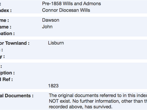 Wills and Administrations in Ireland Prior to 1858
