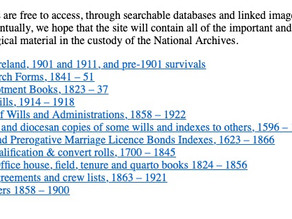 Best Genealogy Sites for Irish Research: National Archives of Ireland