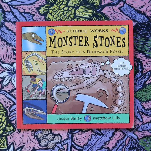 Monster Stones; The Story of a Dinosaur Fossil by J Bailey and M Lilly