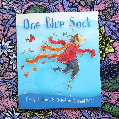 One Blue Sock by Emily Ballou and Stephen Michael King