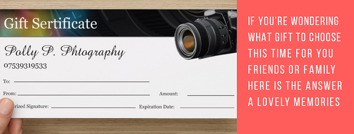 photo shoot gift  certificate