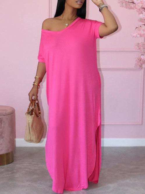 Flamingo Pink Dress