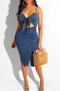 Denim Deep Blue Dress