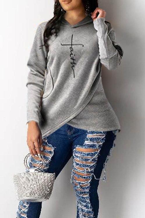 Faith Grey Hoodie