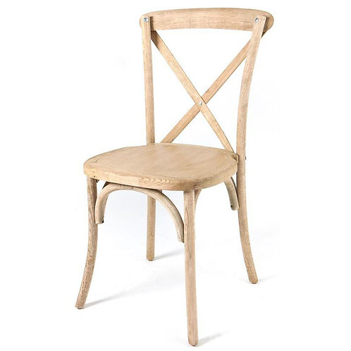 Wood cross back chairs