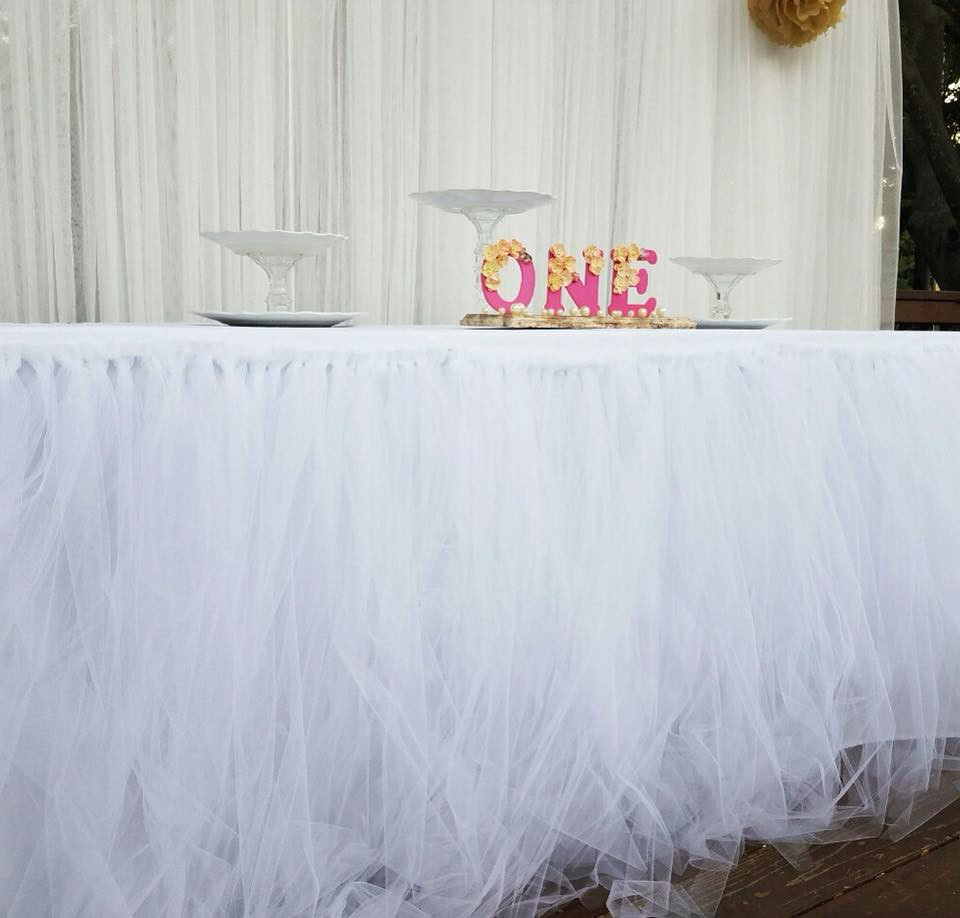 Tule Table Skirts