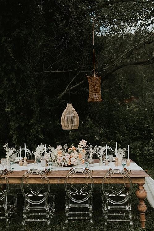 Wood tables - elegance