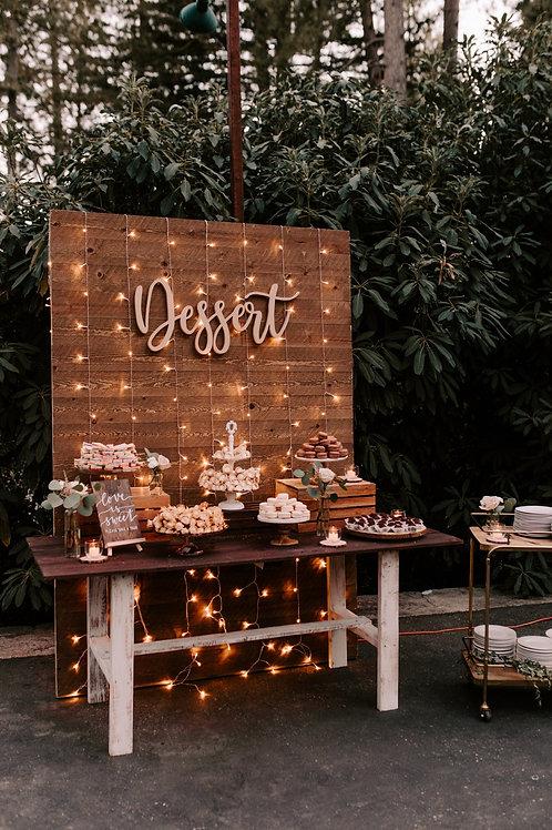 Wood Dessert table