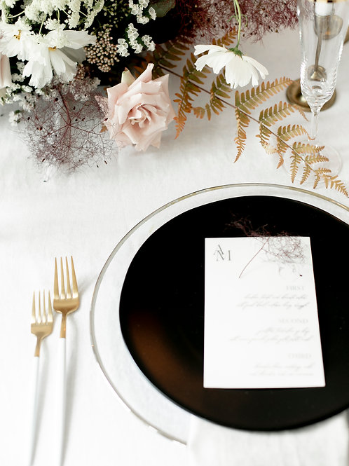 Flatware white and yellow gold