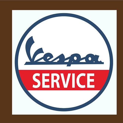 Vespa Service pegatinas clásicas
