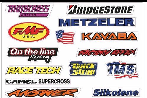 Pegatinas motocross clasicas
