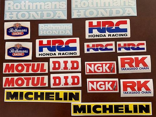 Rothmans kit adhesivos decoración motos