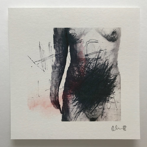 Hand varnished signed print - I Hate You