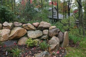 Rock walls at entrance