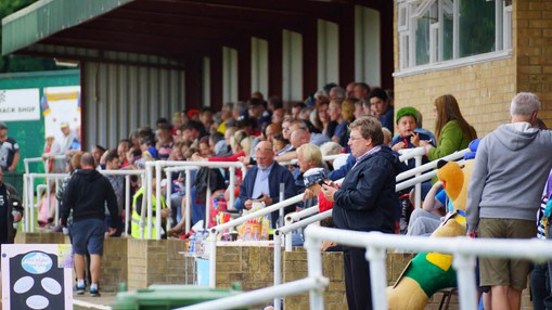 Crowd In The Granstand : Image By Ian Groves
