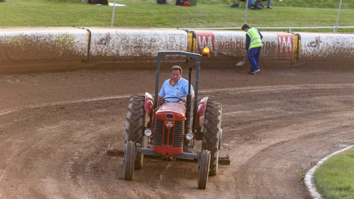 Barry Bishop On The Tractor : Image By Mike Thomas