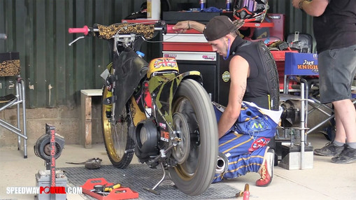 Georgie Wood In The Pits : Image By Speedway Portal