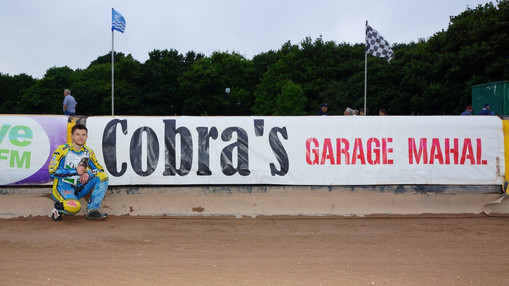 Craig Nethercoat With The Cobra Banner : Image By Ian Groves