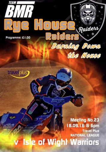 Programme Cover : Designed By Rye House