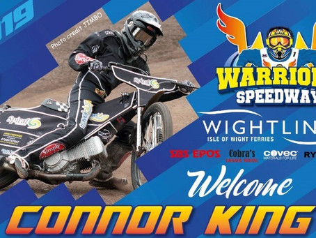 Connor King Completes Speedway Warriors