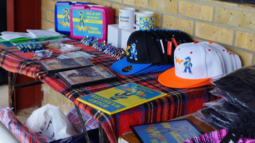 Warriors Merchandise Stall : Image By Ian Groves