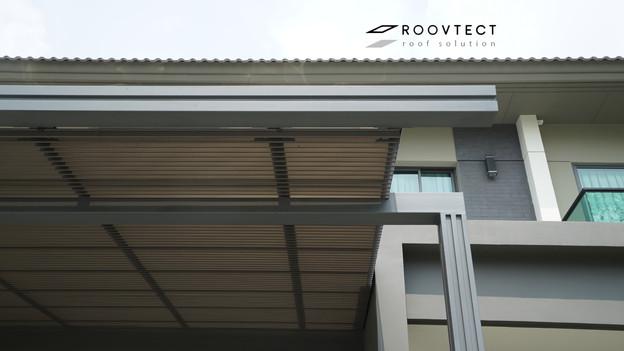 หลังคาโรงรถโพลีตัน ระแนงอลูมิเนียม ROOVTECT