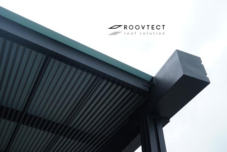 หลังคาโรงรถไวนิล ระแนงอลูมิเนียม ROOVTECT