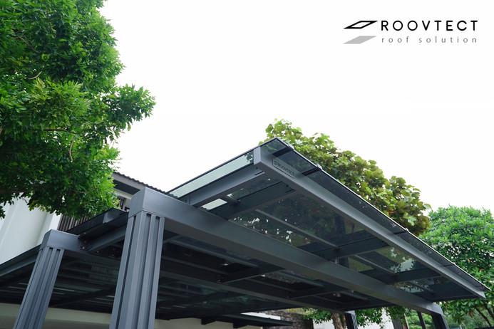 หลังคาโรงรถ Shinkolite ROOVTECT