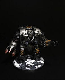 Leviathan Dreadnought Iron Warriors Space Marines 40k 30k Horus Heresy BBS Miniature Painting Commission Service