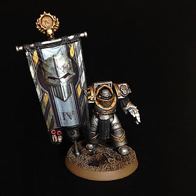 Banner Iron Warriors Space Marines 40k 30k Horus Heresy BBS Miniature Painting Commission Service