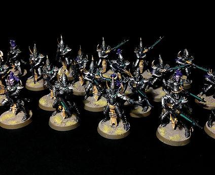 Kabalite Warriors Dark Eldar Drukhari 40k BBS Miniature Painting Commission Service