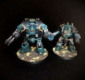 Leviathan Dreadnought Sons of Horus Space Marine Horus Heresy 40k 30k BBS Miniature Painting Commission Service