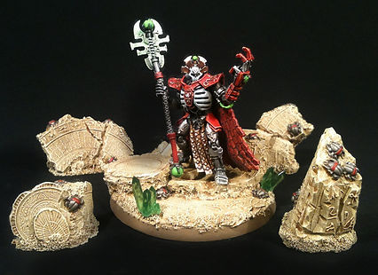 Imotekh the Stormlord Necron 40k BBS Miniature Painting Commission Service