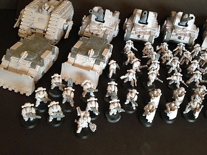 Army Iron Warriors Space Marines 40k 30k Horus Heresy BBS Miniature Painting Commission Service