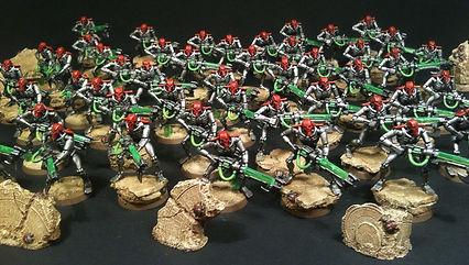 Warriors Necron 40k BBS Miniature Painting Commission Service