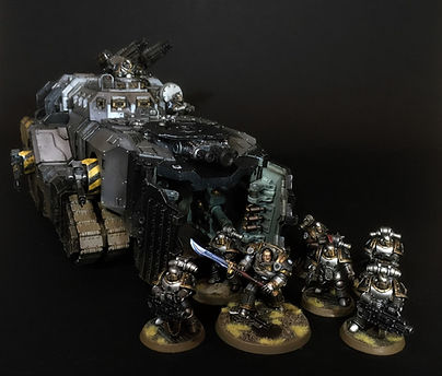 Mastodon Iron Warriors Space Marines 40k 30k Horus Heresy BBS Miniature Painting Commission Service