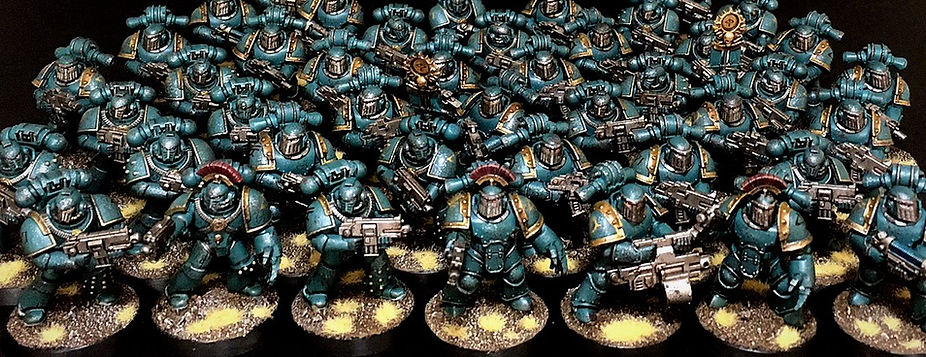 Sons of Horus Space Marine Horus Heresy 40k 30k BBS Miniature Painting Commission Service