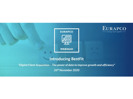 EURAPCO hosts exclusive webinar to introduce BestFiT's disruptive digital platform to its clients