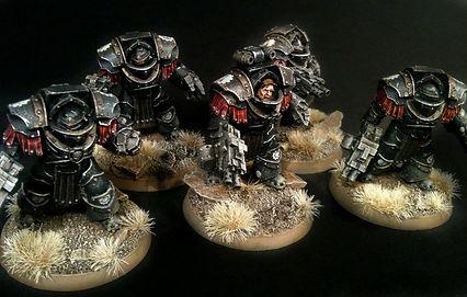 Legion Terminators Iron Hands Space Marines 40k 30k Horus Heresy BBS Miniature Painting Commission Service