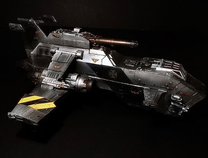 Thunderhawk Gunship Iron Warriors Space Marines 40k 30k Horus Heresy BBS Miniature Painting Commission Service