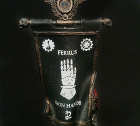 Legion Banner Iron Hands Space Marines 40k 30k Horus Heresy BBS Miniature Painting Commission Service