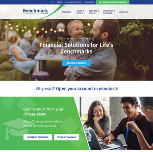 Benchmark Federal Credit Union Homepage