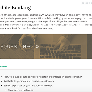 First Colorado National Bank Product Page